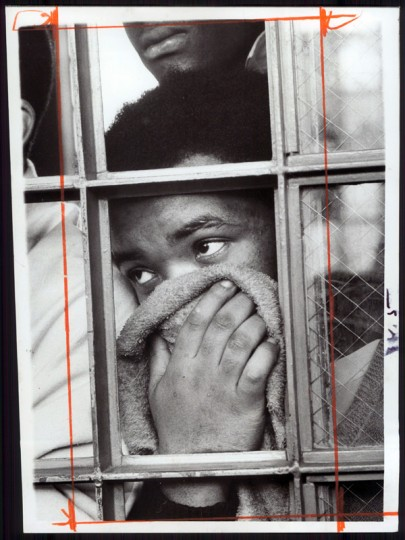 An imate reacts to gas used to surpress the troublemakers at the jail. (William LaForce/Sun file/Feb. 18, 1971)