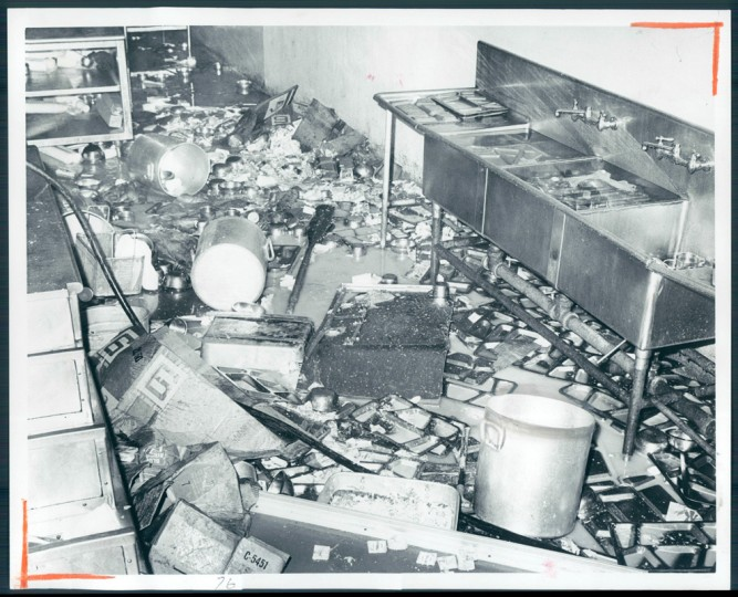 Aftermath of a riot in Baltimore City Jail. (William H. Mortimer/Sun file photo/September 14, 1971)
