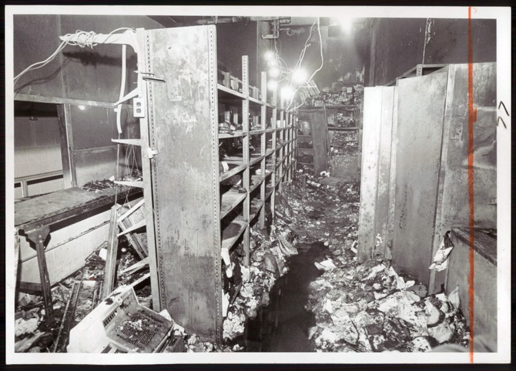 The inmates rampage left the City Jail's commissary devistated by vandalism and also by a fire. (Weyman Swagger/Baltimore Sun file/Feb. 26/1973)