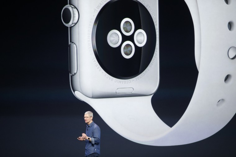 Apple CEO Tim Cook speaks during an Apple event announcing the iPhone 6 and the Apple Watch at the Flint Center in Cupertino, California, September 9, 2014. Stephen Lam/Reuters photo