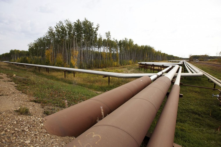 Pipelines run at the McKay River Suncor oil sands in-situ operations near Fort McMurray, Alberta. In 1967 Suncor helped pioneer the commercial development of Canada's oil sands, one of the largest petroleum resource basins in the world. Picture taken September 17, 2014. (REUTERS/Todd Korol)