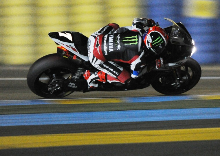 Australian's Broc Parkes on his Yamaha No. 7 competes during the 37th Le Mans 24 hours moto endurance race in Le Mans, western France. (Jean Francois/AFP-Getty Images)