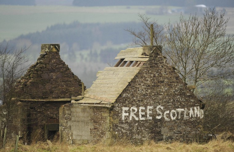 A derelict cottage is seen at the side of the A9 near Blackford,Scotland on January 10, 2012. (REUTERS/Russell Cheyne)