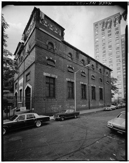 Sub-station number 17, west facade. Interborough Rapid Transit Subway (Original Line), New York, New York County, NY. (Library of Congress)