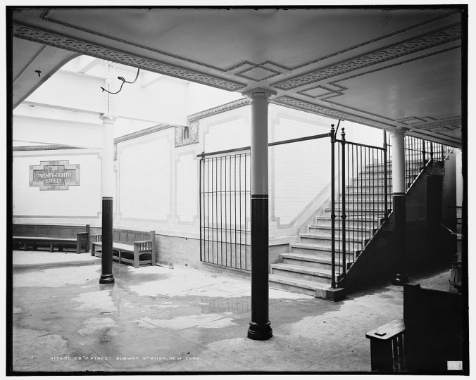 28th St. subway station, New York, between 1900 and 1906. (Detroit Publishing Company/Library of Congress)