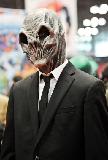 A Comic Con attendee poses during the 2014 New York Comic Con at Jacob Javitz Center in New York City. Daniel Zuchnik/Getty Images