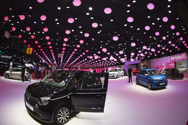 A general view shows the stands of various French carmakers at the Paris Auto Show in Paris on October 2, 2014. Joel Saget/AFP/Getty Images