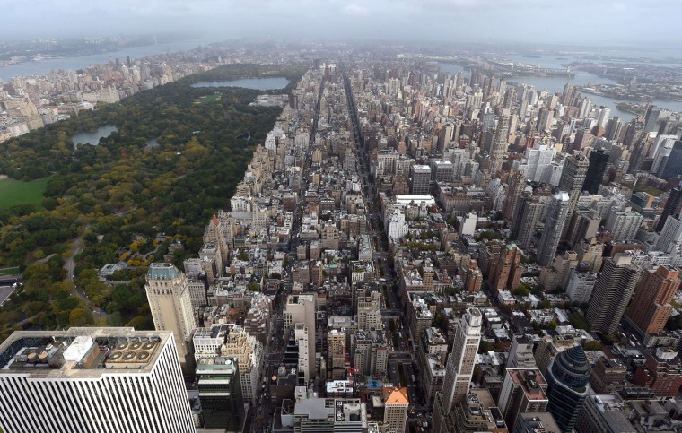 A view of New York City to the north from the 75th floor of 432 Park Avenue October 15, 2014 the day after it earned the distinction of being the country's tallest residential skyscraper. (Timothy A. Clary/AFP/Getty Images)