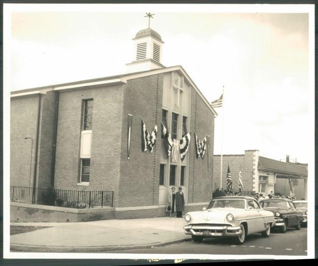 Saint Nicholas Greek Orthodox Church, a staple of the Greektown community. (Albert D. Cochran, Sun archives/Nov. 6, 1957)