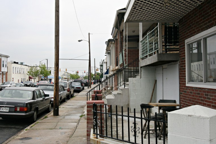 5/1/08: Townhouses in Greektown. (Kathryn Whitney/Sun Photographer)