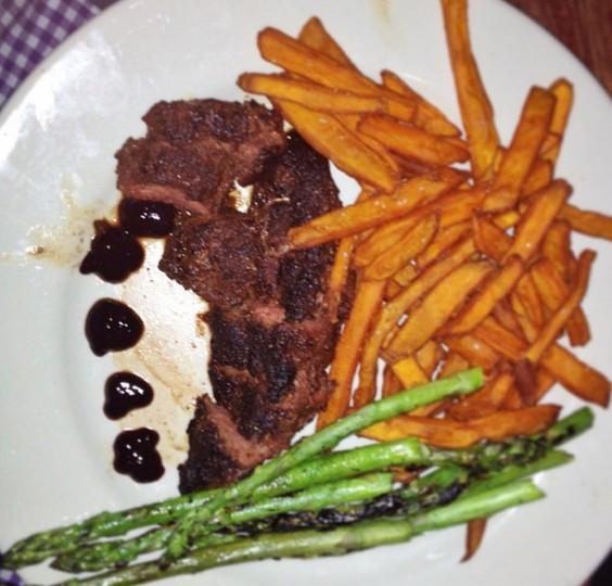 Dinner in Minneapolis: Kangaroo steak at @hellskitchenmn on May 3, 2014.