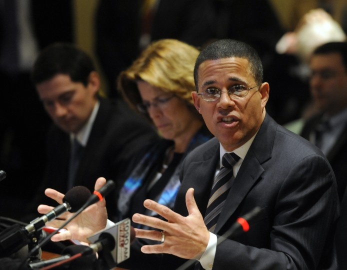1/14/2014: Lt. Governor Anthony Brown testifies to the House Health and Government Committee on behalf of HB 119, which would provide temporary funding for people who tried to sign up with the Maryland Health Exchange but were unsuccessful. (Barbara Haddock Taylor/Baltimore Sun)