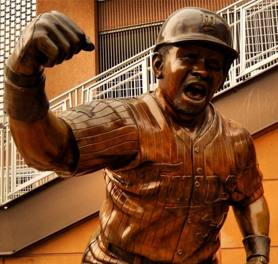 Kirby Puckett Statue at Target Field. Picture taken May 4, 2014.