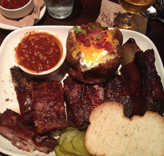 The ultimate rib dinner at Jack Stack Barbeque in Kansas City. Picture taken Oct. 12, 2014.