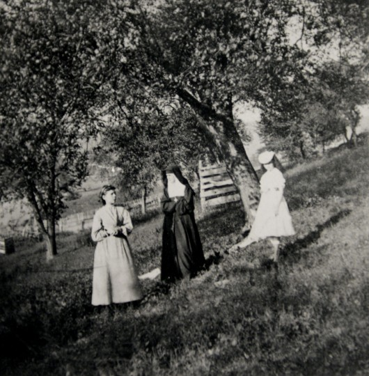 The first known photo of people taken at Mount de Sales.
