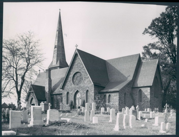 11/4/50: St. John's Church in the 3000 block of Greenmount. (Sun file photo)