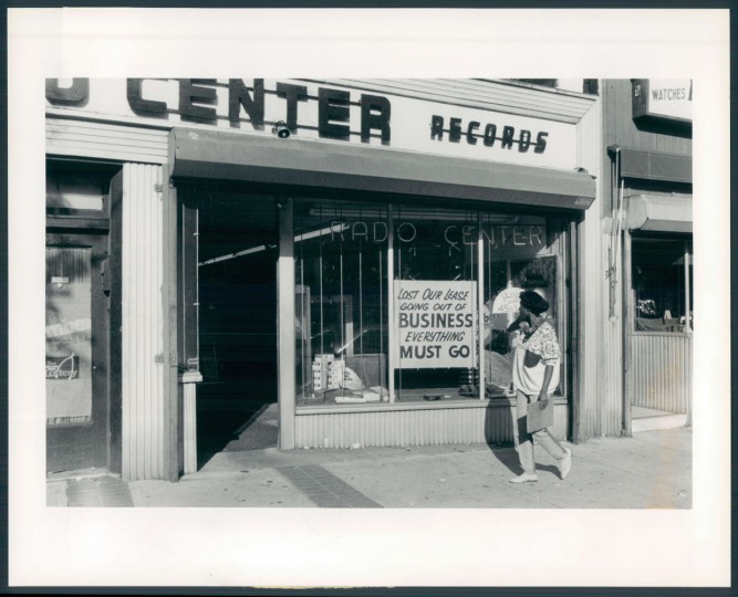 Sept. 24, 1987. Exterior of Radio Center, 3118 Greemount. Sun file photo.