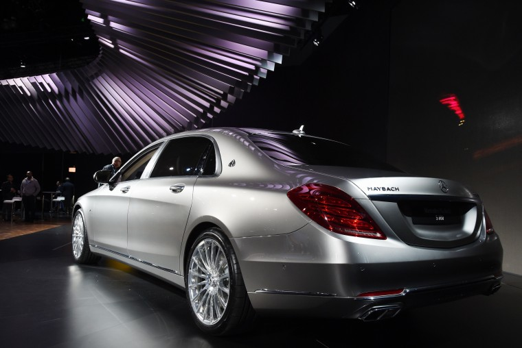 The all new Mercedes Benz Maybach S 600 attracts interest after its unveiling at the LA Auto Show's press and trade day in Los Angeles, California on November 19, 2014. Nearly 60 North American and World vehicle debuts will be unveiled at this years auto show which opens to the public from November 21 to 30. Robyn Beck/AFP/Getty Images)