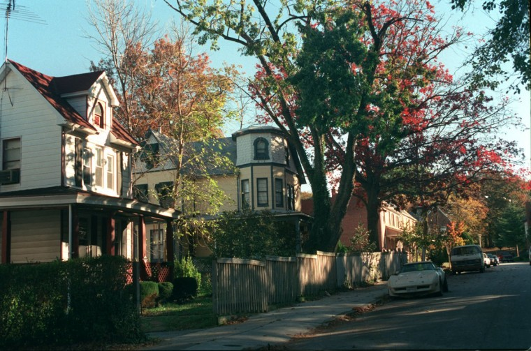 10/31/00: Parkwyrth Ave., which has both rowhomes and Victorian homes. (Algerina Perna/Baltimore Sun)