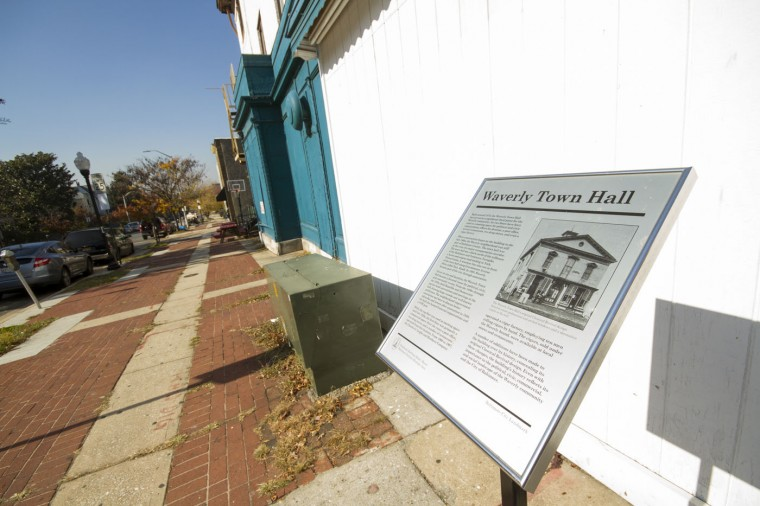 In 2011, Mayor Stephanie Rawlings-Blake signed a bill designating the old Waverly Town Hall at Greenmount Avenue and 31st Street as the city's latest historic landmark. (Kalani Gordon/Baltimore Sun/Nov. 2014)