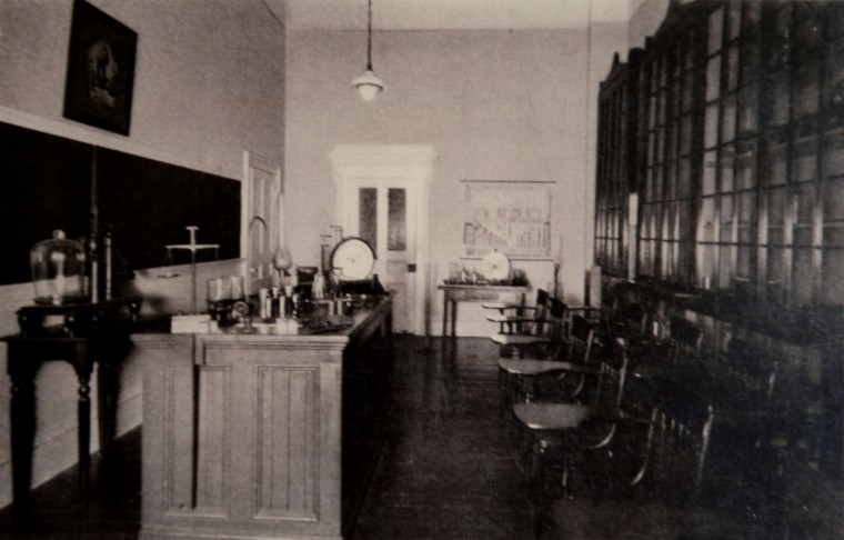 A laboratory at Mount de Sales.