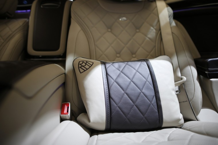 "The back seat of the Mercedes-Maybach S600 is seen at the 2014 Los Angeles Auto Show in Los Angeles, California November 20, 2014. The Maybach S600 model offers additional space and luxury over the ""normal"" Mercedes S-class sedan. (Lucy Nicholson/Reuters)"