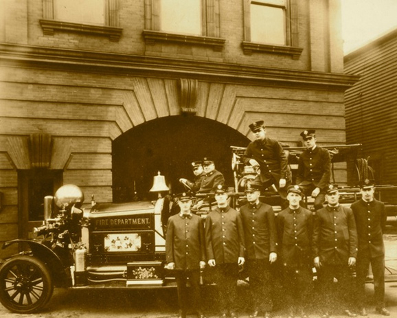 Waverly firehouse, undated. (Courtesy of Joe Stewart)
