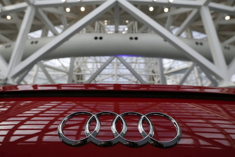 A 2015 Audi TTS is seen during preparations for the 2014 LA Auto Show in Los Angeles, California November 18, 2014. (Lucy Nicholson/Reuters)