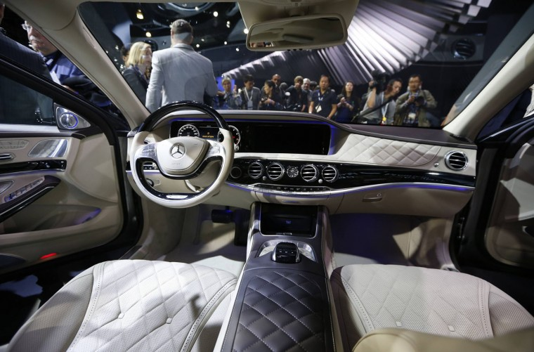 The interior of the Mercedes-Maybach S-Class is pictured during the model's world debut at the Los Angeles Auto Show in Los Angeles, California November 19, 2014. (Lucy Nicholson/Reuters)