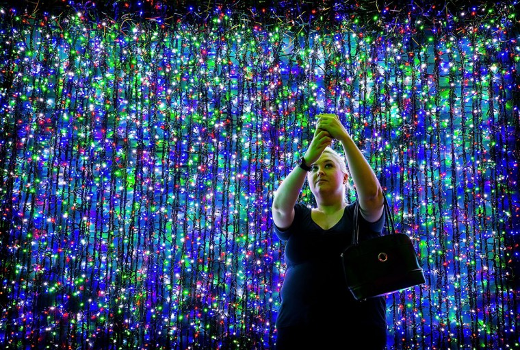 Over one million lights have been set up in Canberra's CBD officially breaking the Guinness World Record for the largest LED image display on November 29, 2014 in Canberra, Australia. The display will raise money for SIDS and Kids ACT and will be open for viewing for the christmas period. (Stefan Postles/Getty Images)