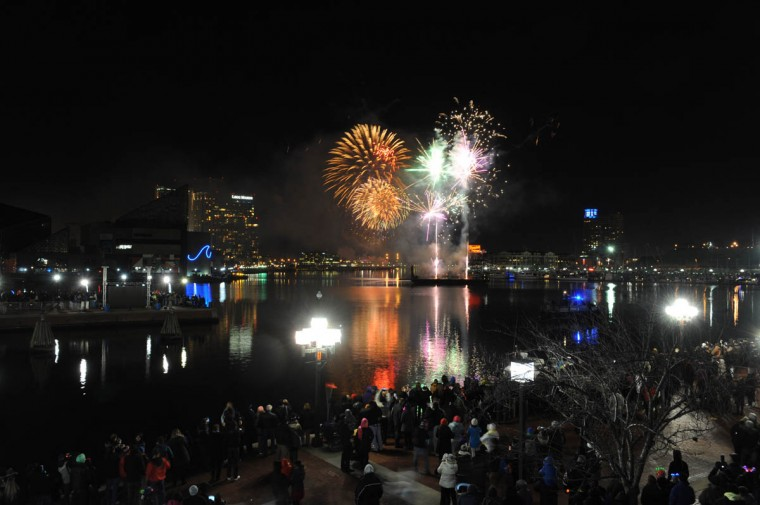 Baltimore's New Year's Eve Spectacular welcomes the new year with music and a fireworks and light show display at midnight over the Inner Harbor. (Kenneth K. Lam/Baltimore Sun)