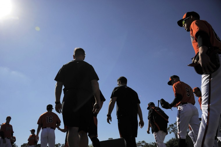 In the midst of a long hard winter, it's nice to take a moment to reflect on one of the annual rites that give us hope the spring will soon be upon us. Baltimore Sun photojournalist Karl Merton Ferron traveled south to capture images of the Orioles spring training in Sarasota, Fla.