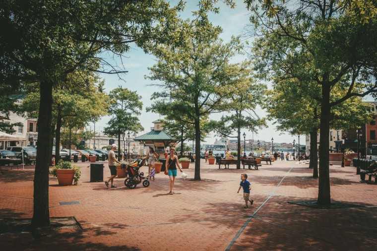 Child Running- Broadway Square-Fells Point, Baltimore, MD