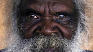 Seventy-six-year-old Australian Aboriginal elder Jimmy Burnyila of the Yolngu people sits at his house located on the outskirts of the community of Ramingining located in East Arnhem Land. (David Gray/Reuters)