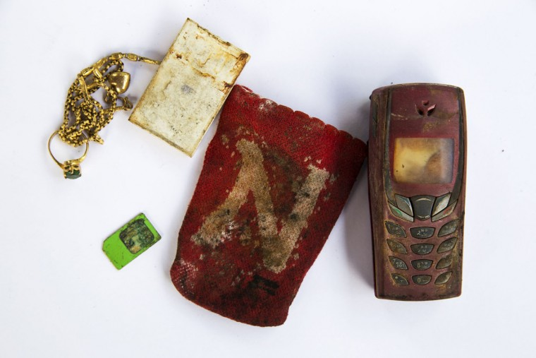Personal possessions of 2004 tsunami victims outside a police station in Takua Pa, in Phang Nga province December 19, 2014.