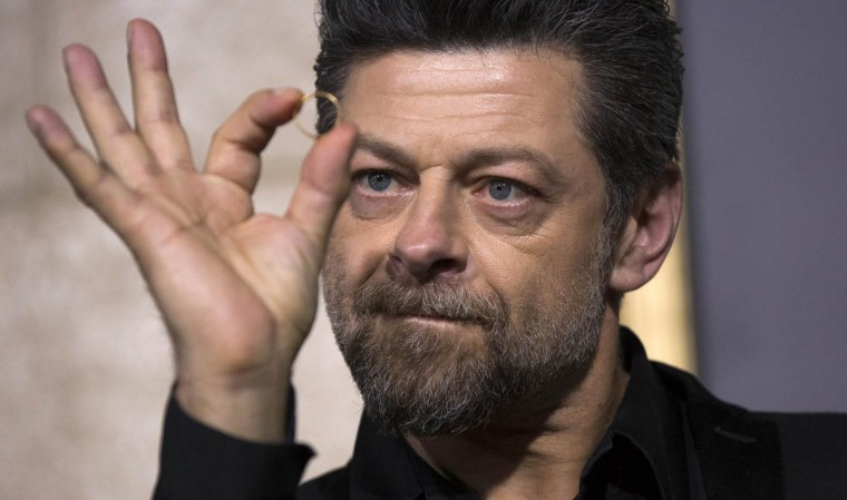 """Andy Serkis, second unit director of the movie, poses at the premiere of """"The Hobbit: The Battle of the Five Armies"""" at Dolby theatre in Hollywood, California. The movie opens in the U.S. on December 17. (Mario Anzuoni/Reuters photo)"""