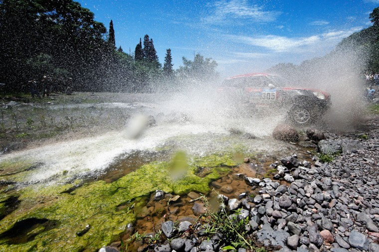 #305 Orlando Orly Terranova and Ronnie Graue of Argentina driving for the ALL4 Racing Mini Monster Energy Rally Raid Team compete during Stage 11 on day 12 of the Dakar Rally between Salta and Termas de Rio Hondo on January 15, 2015 near San Miguel de Tucuman, Argentina. (Photo by Dean Mouhtaropoulos/Getty Images)