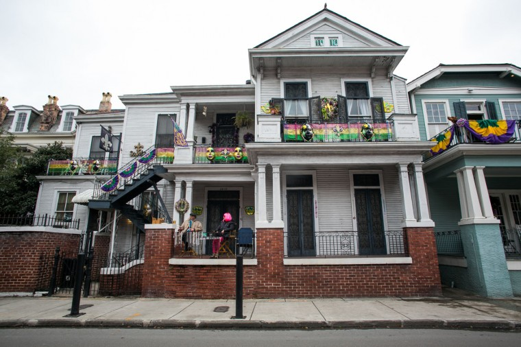 A house sits decorated for Mardi Gras in the Faubourg Marigny neighborhood February 17, 2015 in New Orleans, Louisiana. Mardi Gras, or Fat Tuesday, is a celebration traditionally held before the observance of Ash Wednesday and the beginning of the Christian Lenten season. (Photo by Drew Anthony Smith/Getty Images)