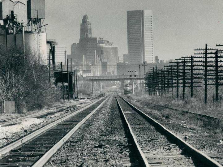 May 29, 1975 - A clear road in and out of town. These are the B. & O. tracks to Washington in southwest Baltimore near Washington Boulevard. Photo taken by Baltimore Sun Staff Photographer Weyman Swagger.