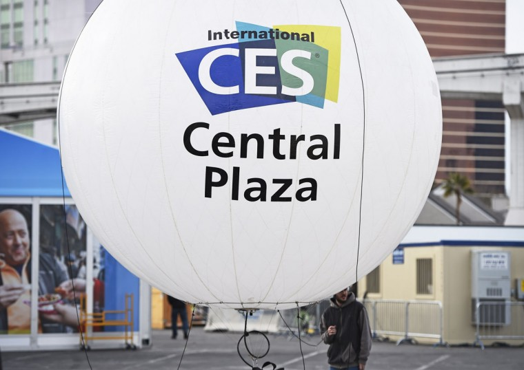 A sign for the 2015 Consumer Electronics Show is seen January 4, 2015 outside the Las Vegas Convention Center in Las Vegas. (ROBYN BECK/AFP/Getty Images)