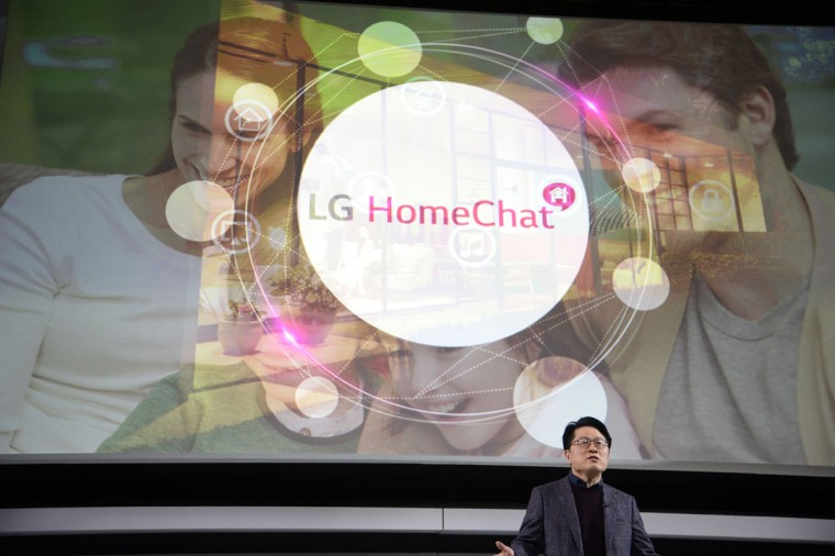 Dr. Skott Ahn, president and chief technology officer at LG, speaks at the LG press conference during the 2015 Consumer Electronics Show(CES) in Las Vegas. (ROBYN BECK/AFP/Getty Images)