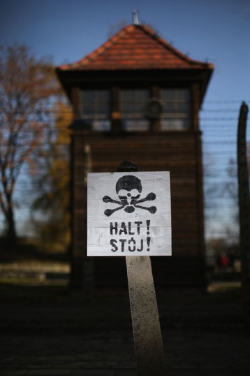 The electrified barbed wire fence surrounds the Auschwitz I extermination camp on November 11, 2014 in Oswiecim, Poland. (Photo by Christopher Furlong/Getty Images)