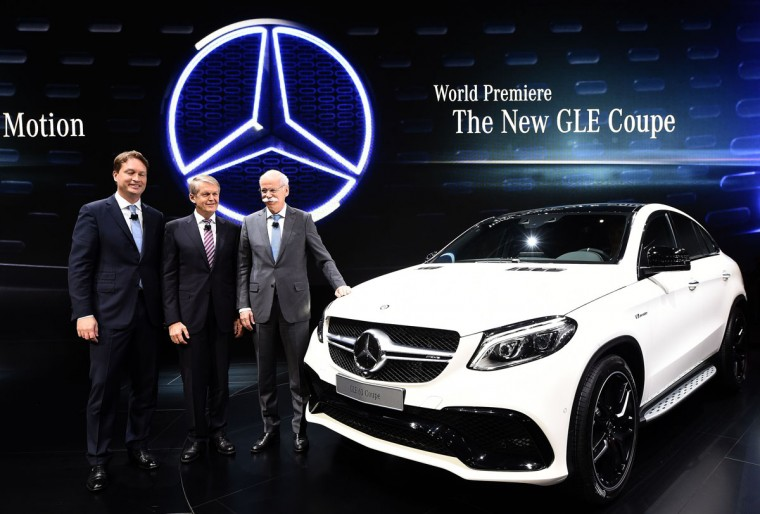 Mercedez-Benz reveals their new GLE Coupe to the media at The North American International Auto Show in Detroit, Michigan, on January 12, 2015. (JEWEL SAMAD/AFP/Getty Images)
