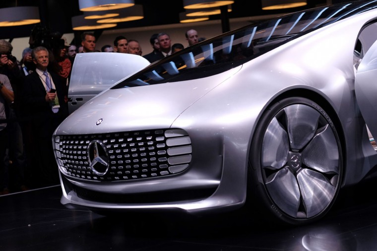 Mercedez-Benz reveals their F015 autonomous electric car to the media at The North American International Auto Show in Detroit, Michigan, on January 12, 2015. (JEWEL SAMAD/AFP/Getty Images)