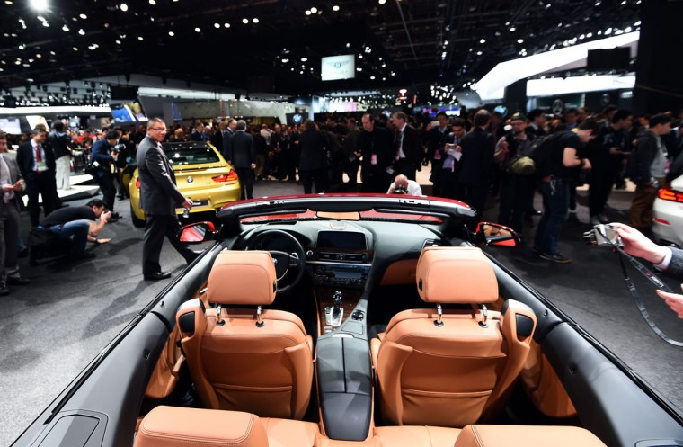 BMW reveals its 650i Convertible to the media at The North American International Auto Show in Detroit, Michigan, on January 12, 2015. (JEWEL SAMAD/AFP/Getty Images)