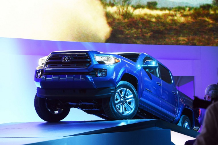 Toyota reveals its new Tacoma truck at The North American International Auto Show in Detroit, Michigan, on January 12, 2015. (JEWEL SAMAD/AFP/Getty Images)