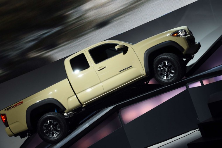 Toyota reveals its new Tacoma off road truck at The North American International Auto Show in Detroit, Michigan, on January 12, 2015. (JEWEL SAMAD/AFP/Getty Images)