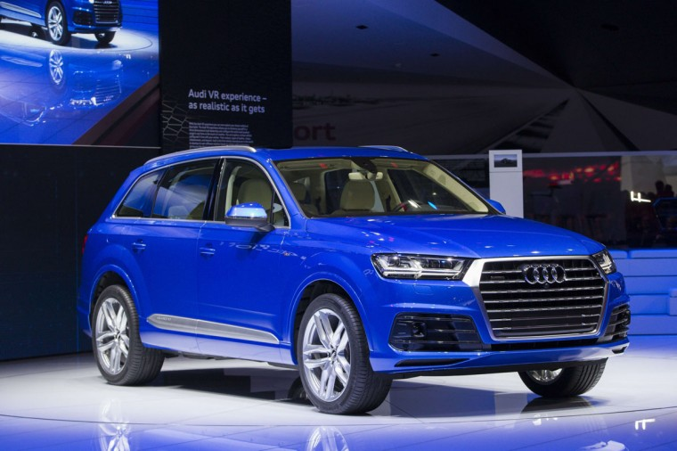 The new Audi Q7 is introduced at the 2015 North American International Auto Show in Detroit, Michigan, January 12, 2015. (GEOFF ROBINS/AFP/Getty Images)