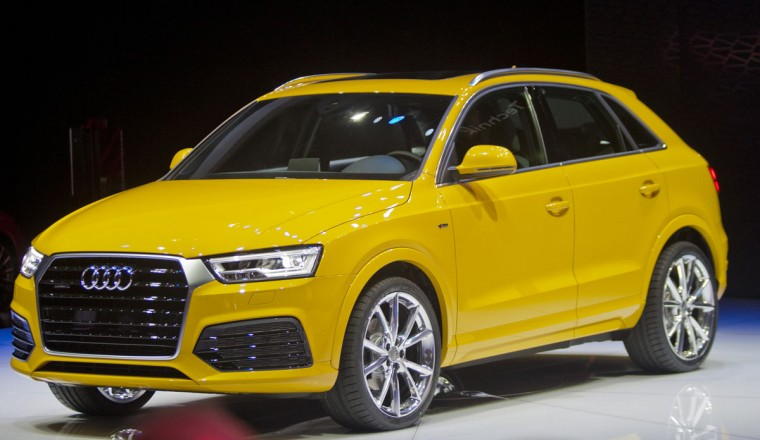 An updated Audi Q3 is shown at the North American International Auto Show, Monday, Jan. 12, 2015, in Detroit. (AP Photo/Tony Ding)
