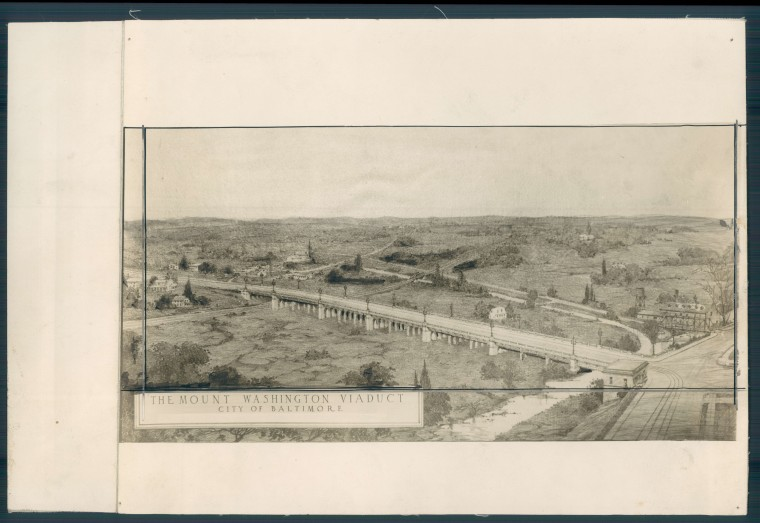 Mt. Washington vieduct. Sun file photo, Jan. 25, 1925.
